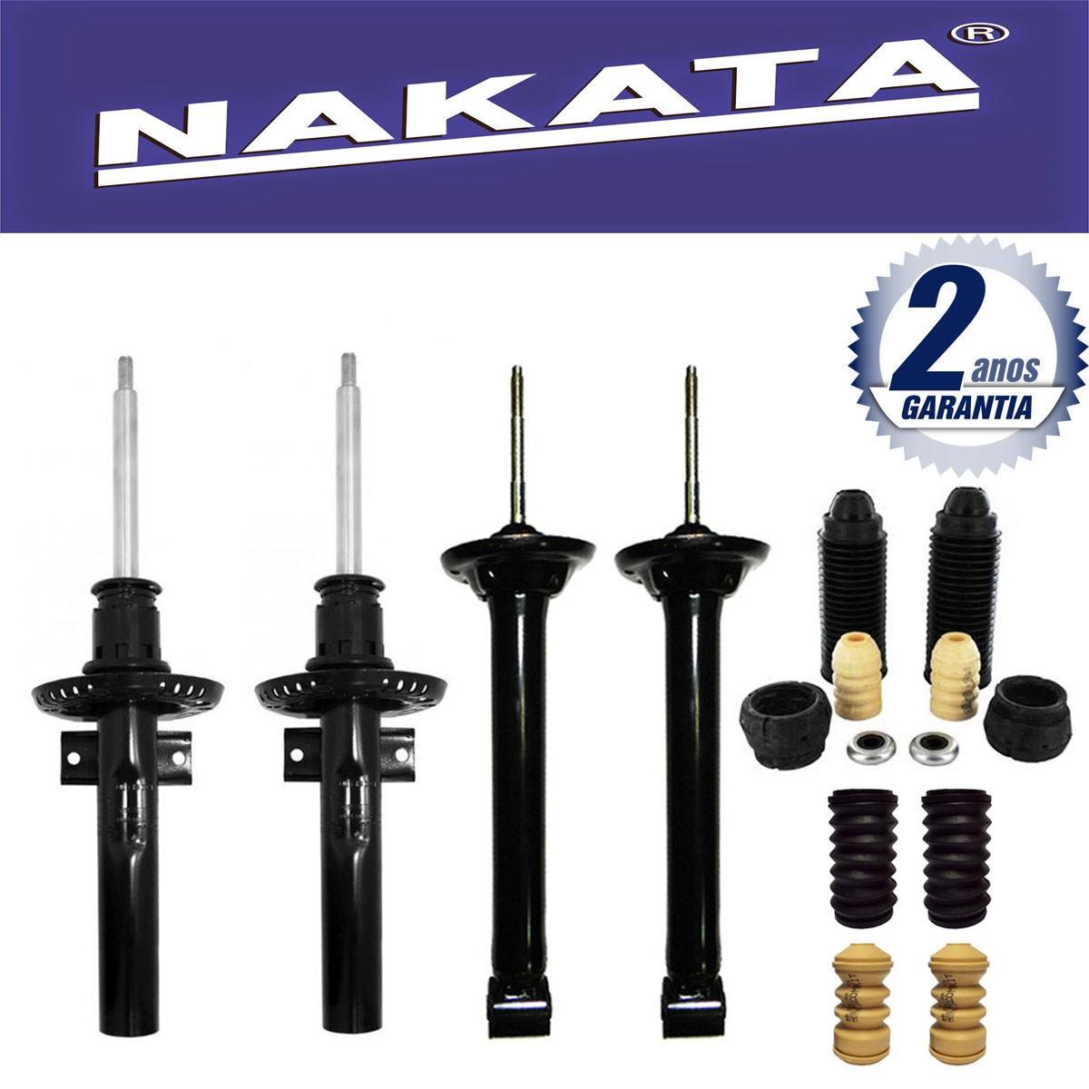 Jogo 04 Amortecedores Nakata Gol e Voyage G5 2008 Até 2013 + Kit da Suspensão