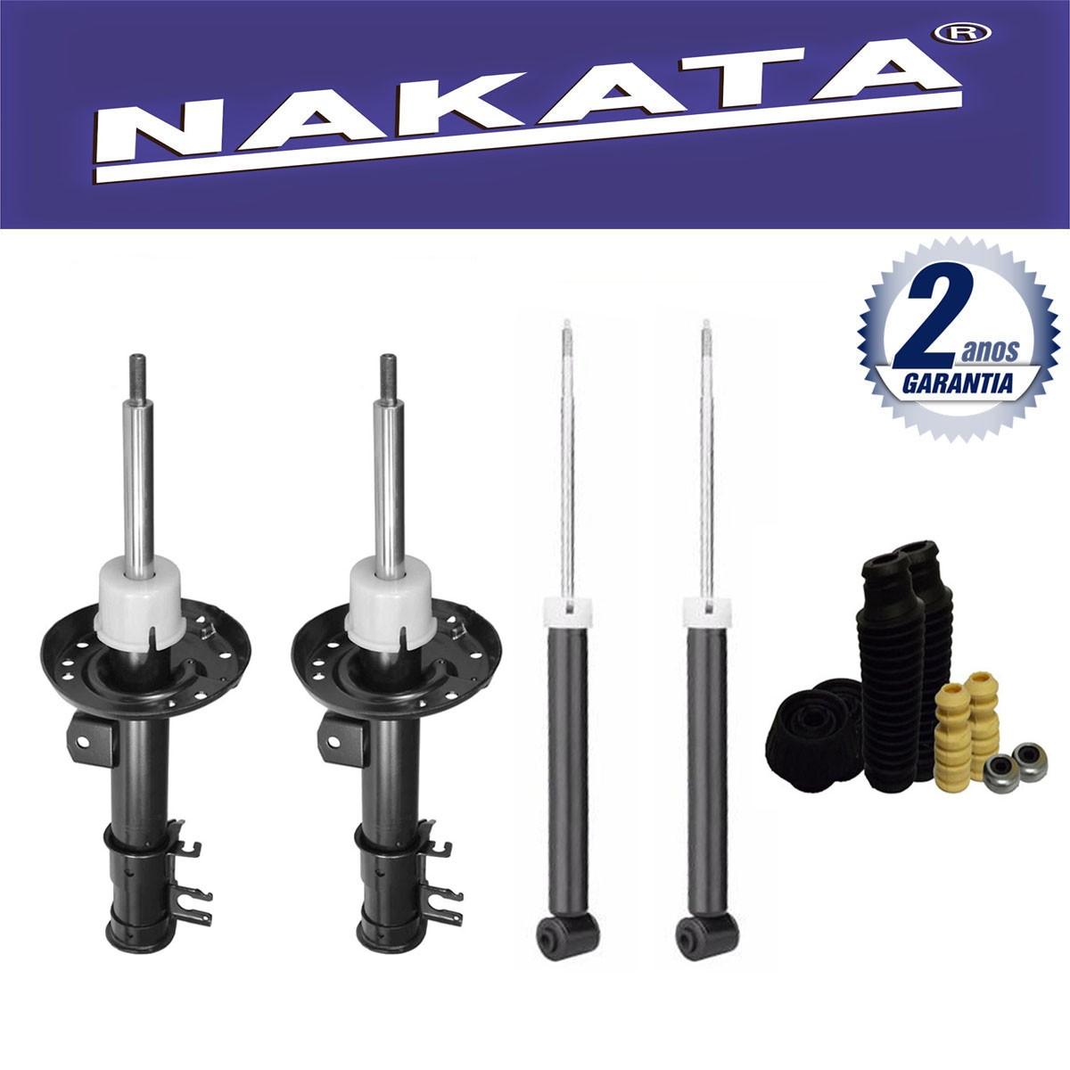Jogo 04 Amortecedores Nakata Honda City 2009 Até 2013 + Kit da Suspensão