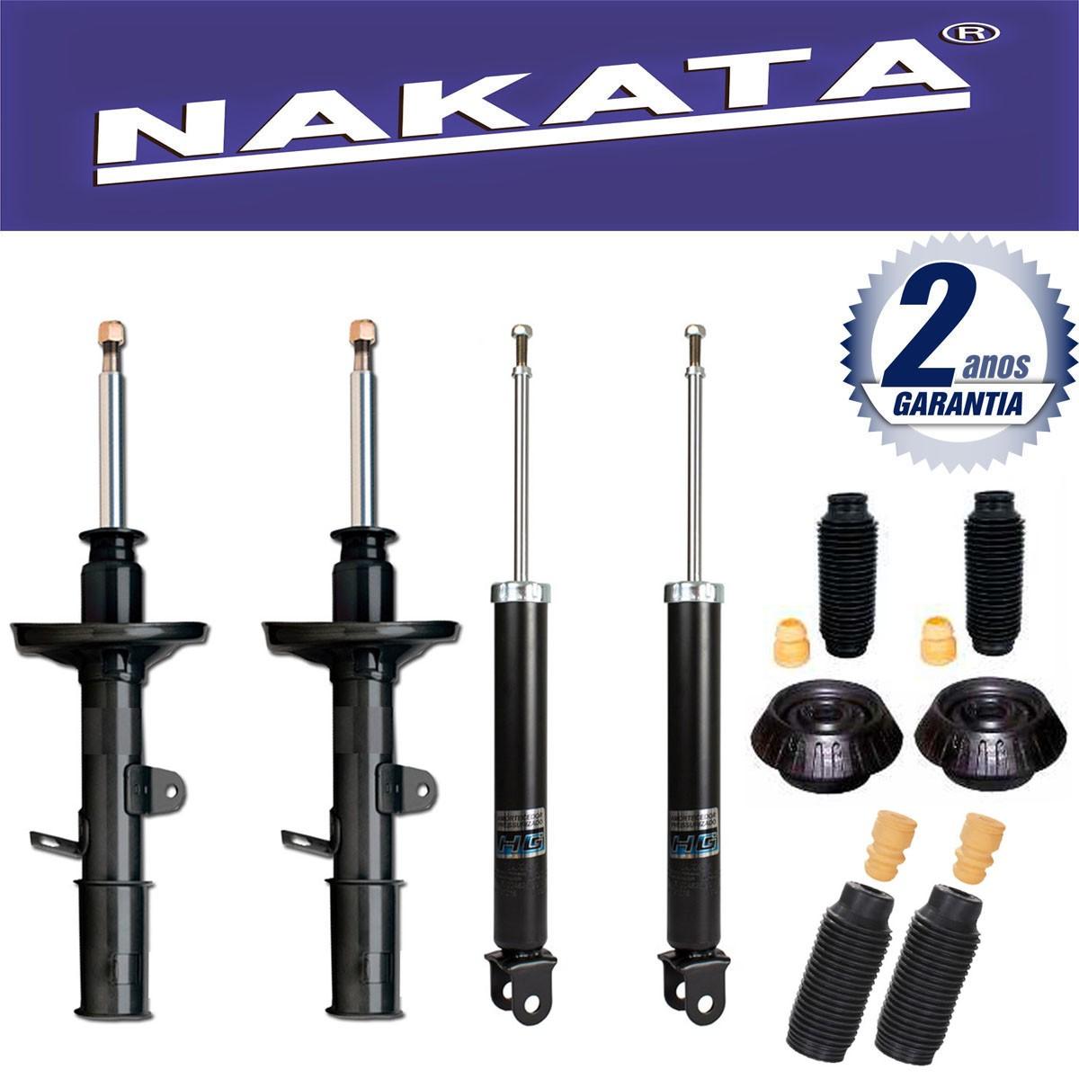 Jogo 04 Amortecedores Nakata Hyundai HB20 Hb20s 2012 Até 2015 + Kit da Suspensão