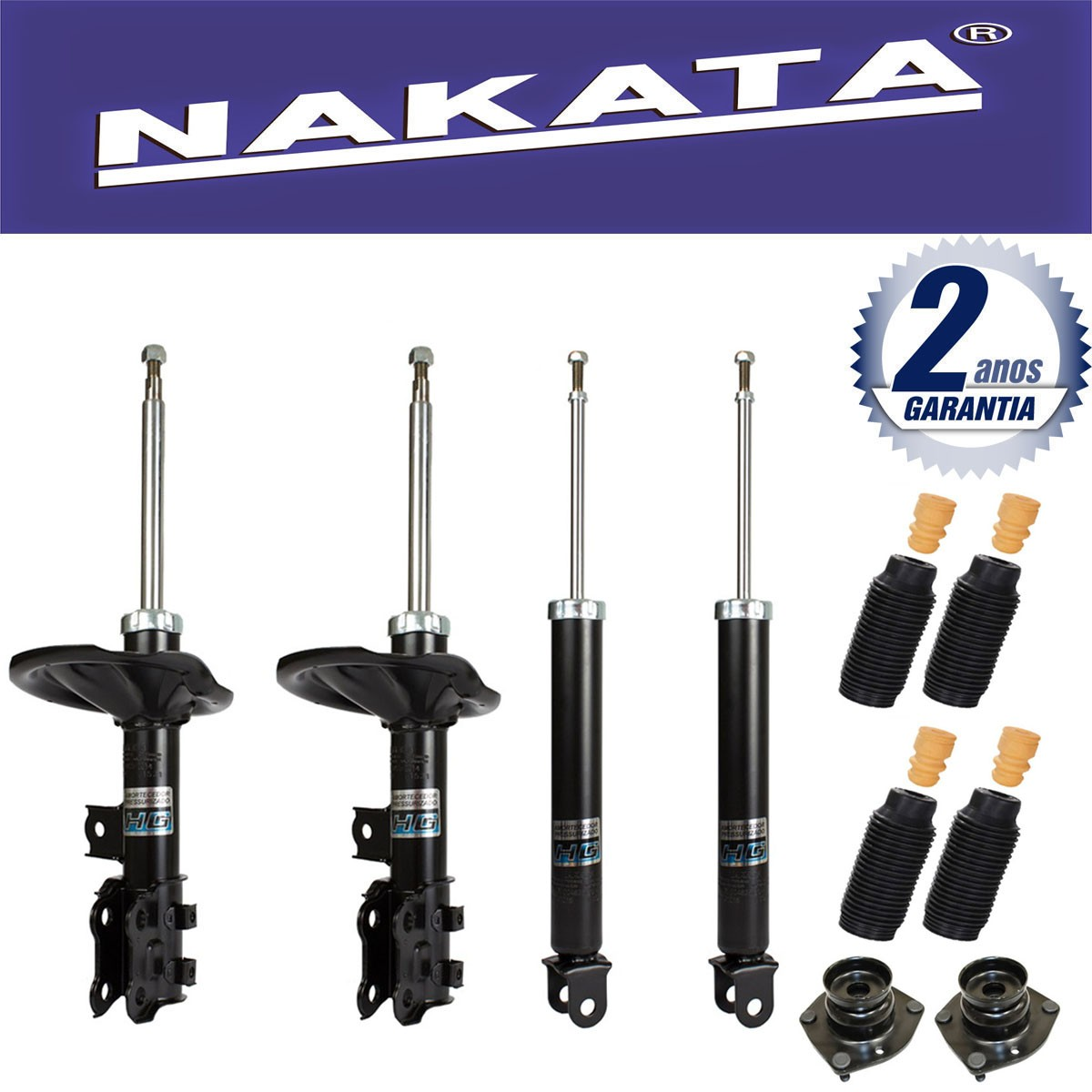 Jogo 04 Amortecedores Nakata I30 2009 Até 2013 + Kit da Suspensão