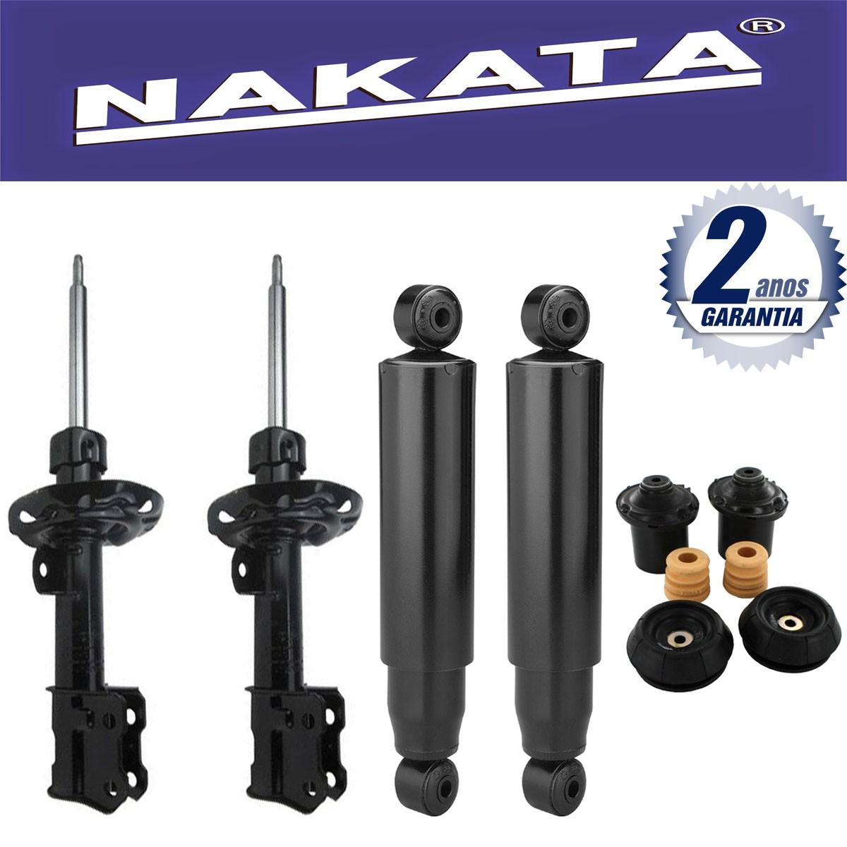 Jogo 04 Amortecedores Nakata Montana 2003 Até 2010 + Kit da Suspensão