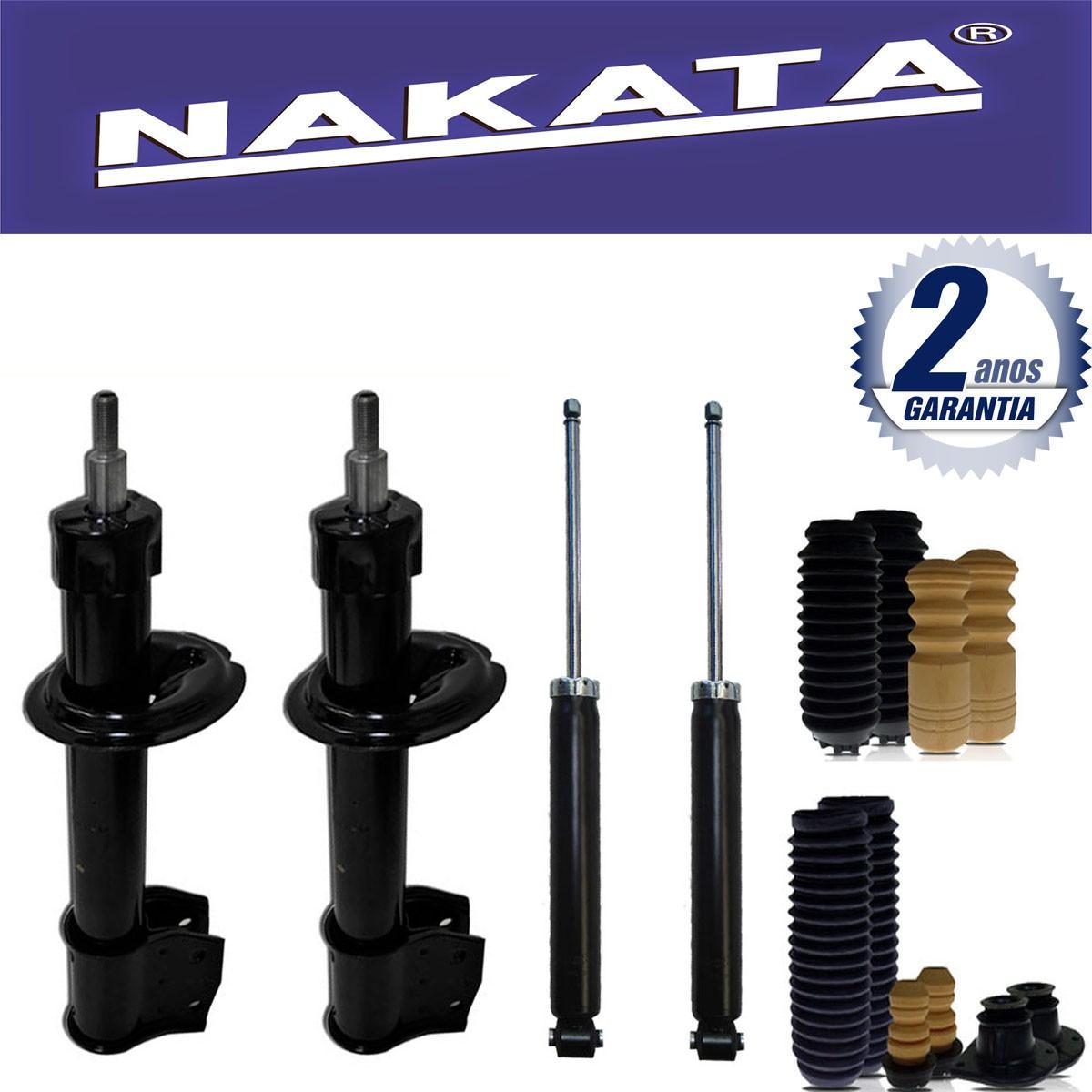 Jogo 04 Amortecedores Nakata Palio Fire Prato Pequeno 2001 Até 2006 + Kit da Suspensão