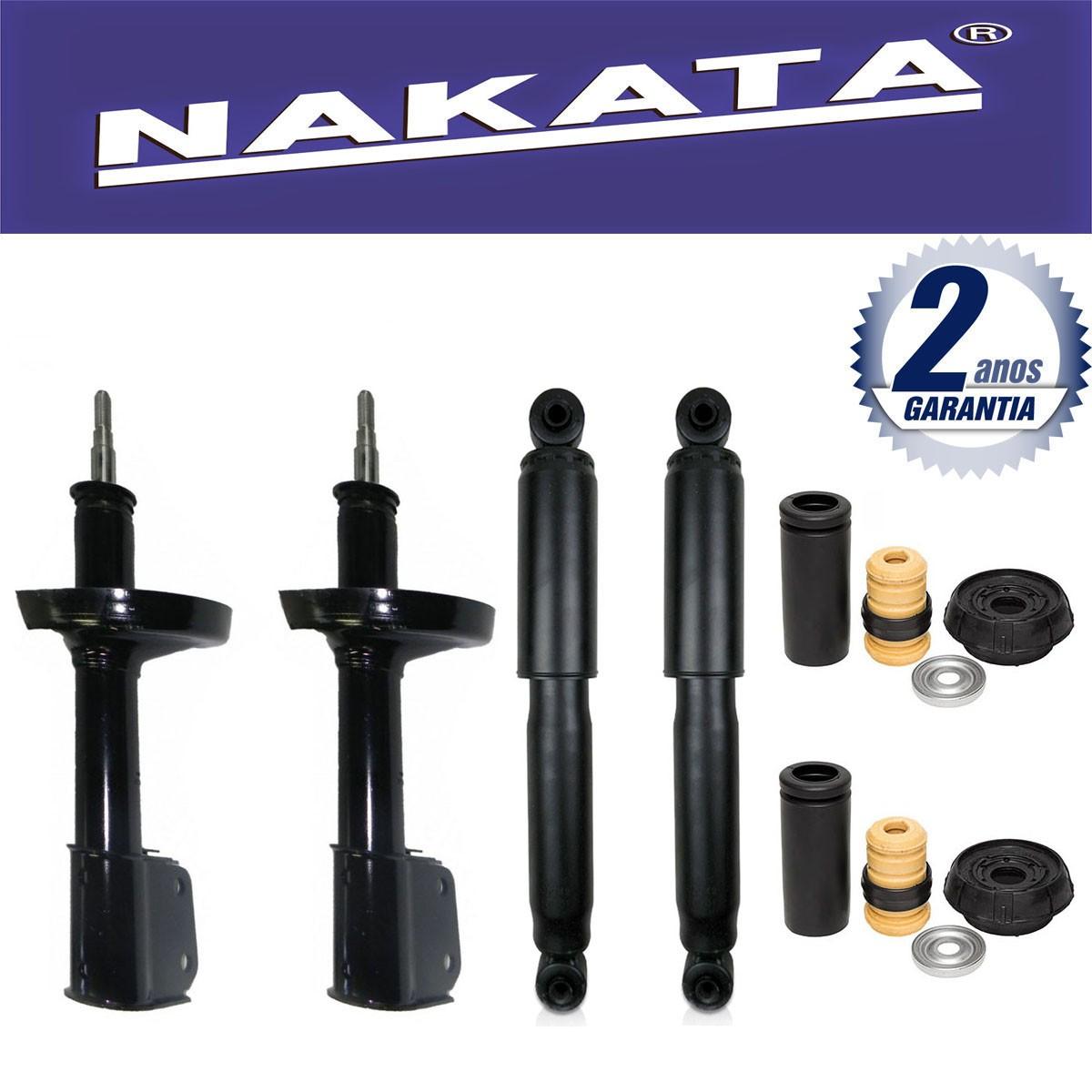Jogo 04 Amortecedores Nakata Renault Kangoo Passeio 1999 Até 2012 + Kit da Suspensão