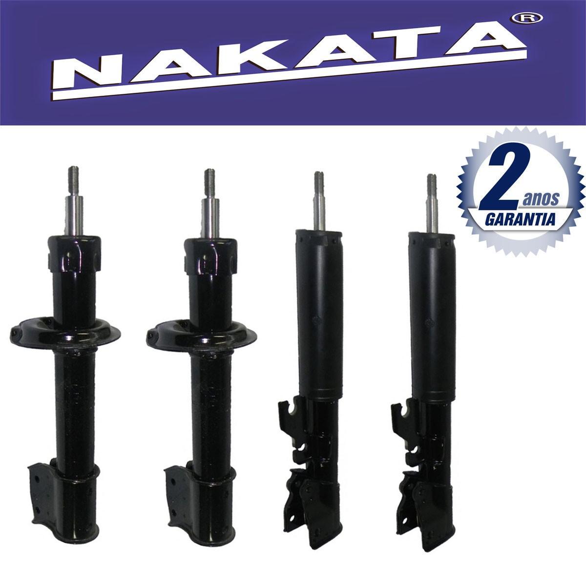 Jogo 04 Amortecedores Nakata Uno Economy 2009 Até 2010