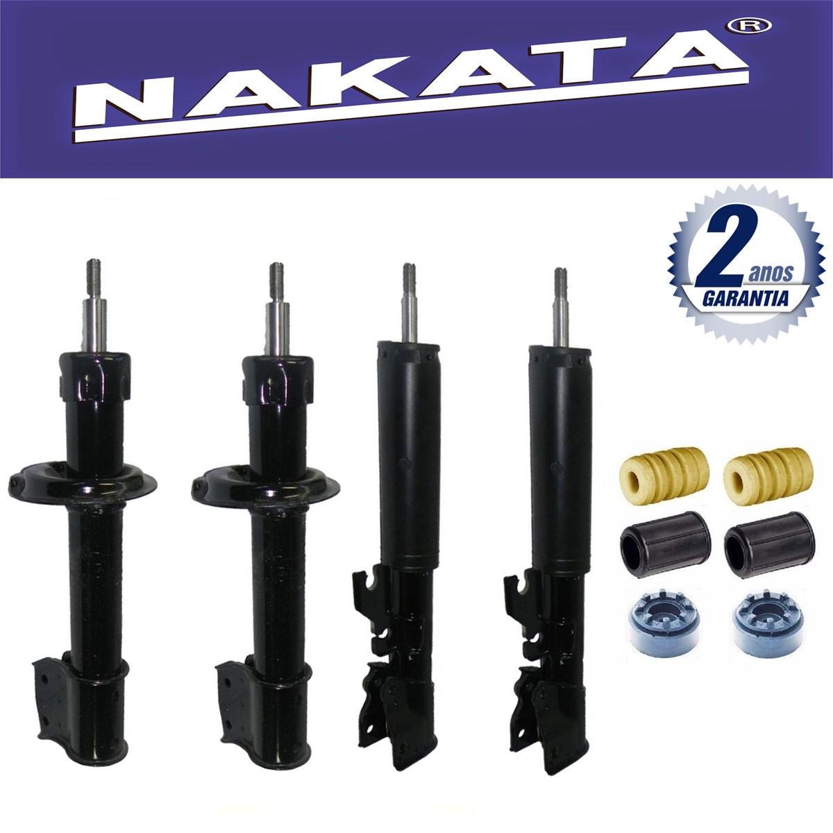 Jogo 04 Amortecedores Nakata Uno Way 2008 Até 2011 + Kit da Suspensão