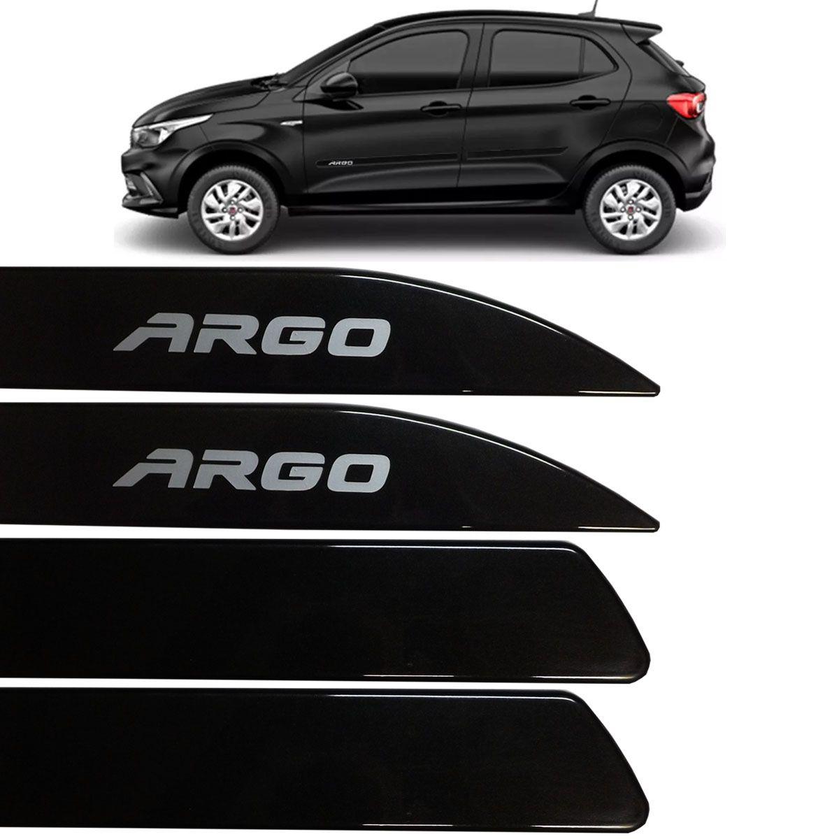 Jogo Friso Lateral Argo 2017 Até 2018 Preto Vesuvio