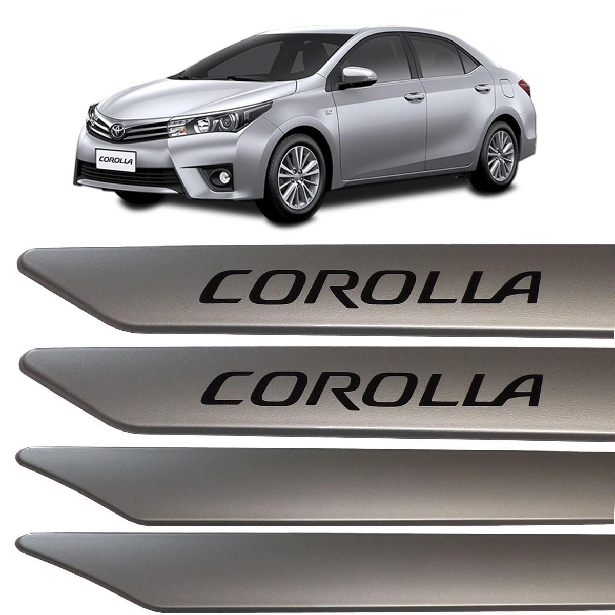 Jogo Friso Lateral Corolla 2015 2016 Prata Super Nova