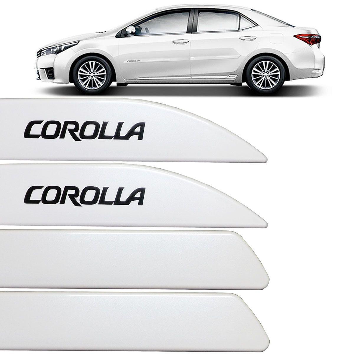 Jogo Friso Lateral Corolla 2015 Até 2018 Branco Perolizado
