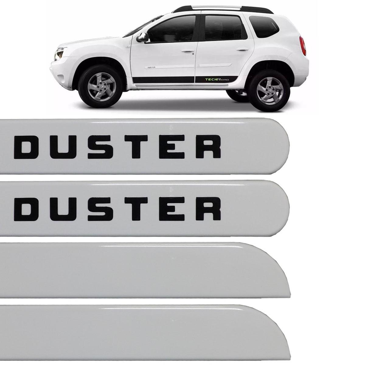 Jogo Friso Lateral Duster 2010 até 2016 Branco Glacier