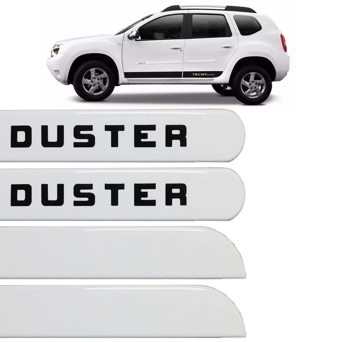Jogo Friso Lateral Duster 2010 até 2016 Branco Niege