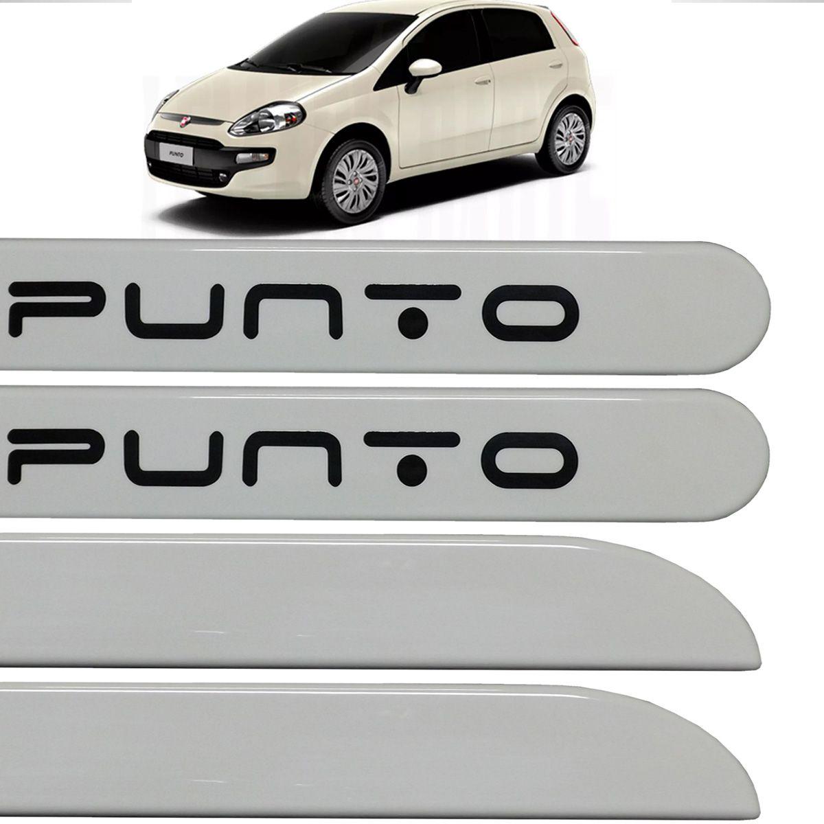 Jogo Friso Lateral Fiat Punto 2013 2014 2015 Branco Kalahari