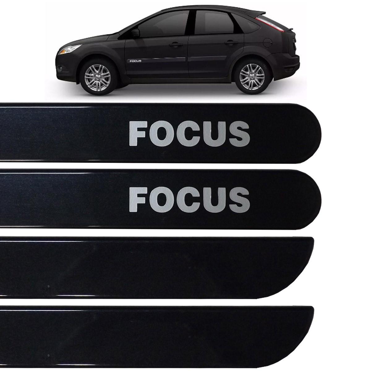 Jogo Friso Lateral Ford Focus 2009 até 2013 Preto Gales