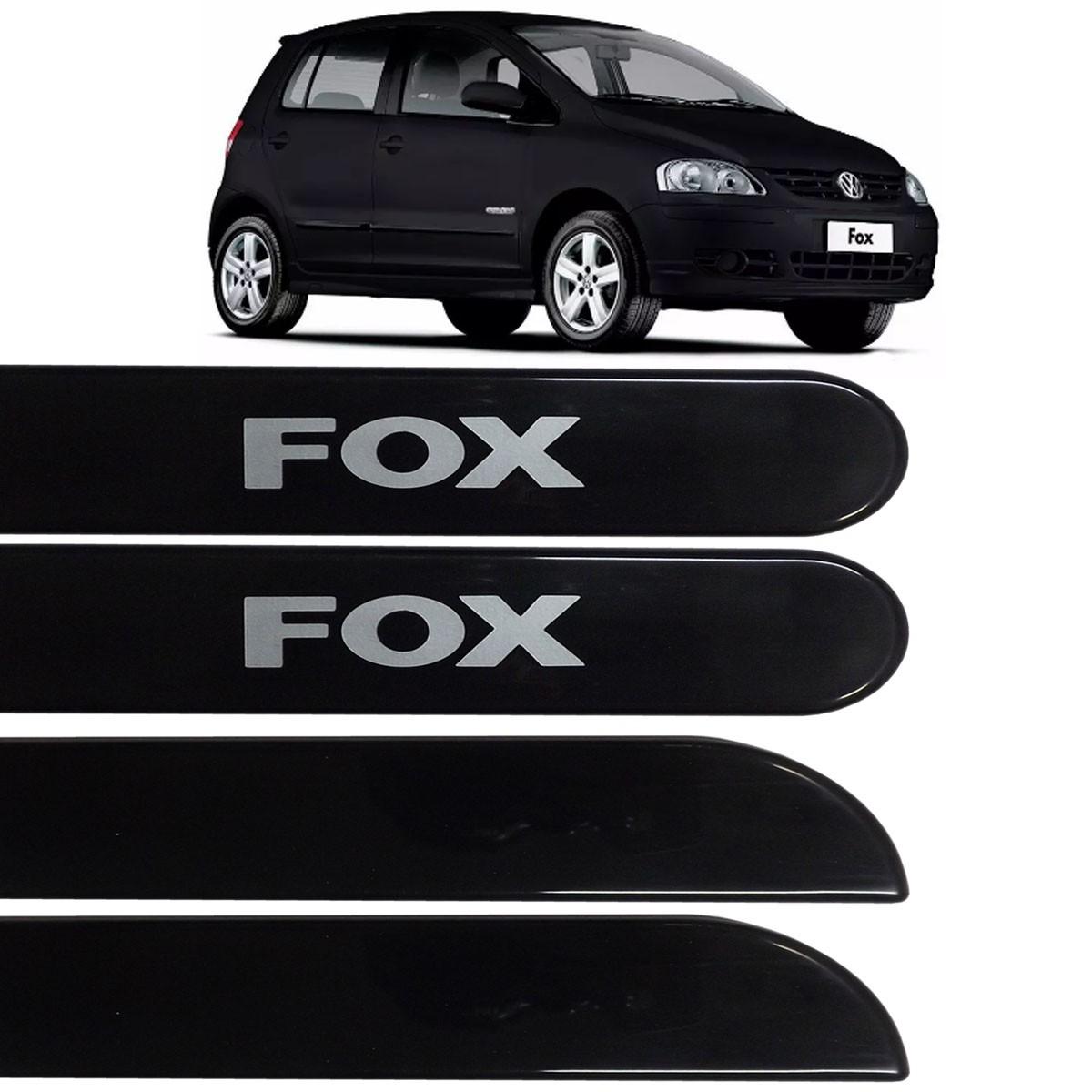 Jogo Friso Lateral Fox 04 Portas 2003 até 2016 Preto Ninja