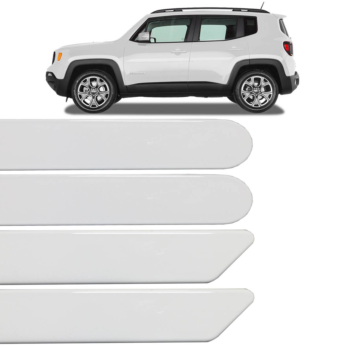 Jogo Friso Lateral Jeep Renegade 2015 2016 2017 Branco Ambiente