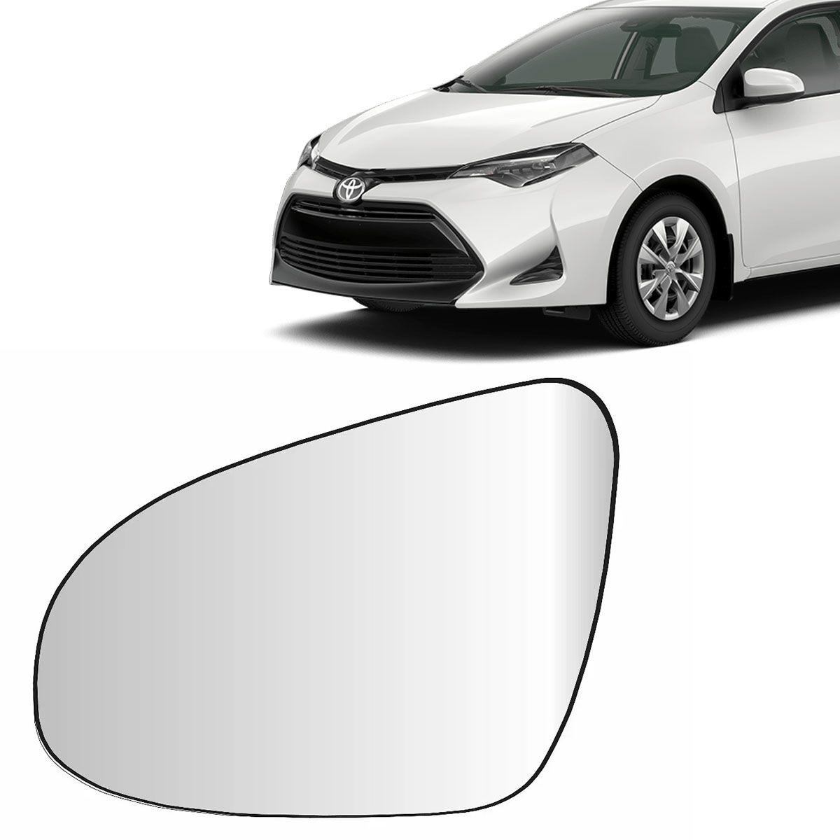 Lente Retrovisor Corolla 2014 Até 2019 Com Base Lado Esquerdo