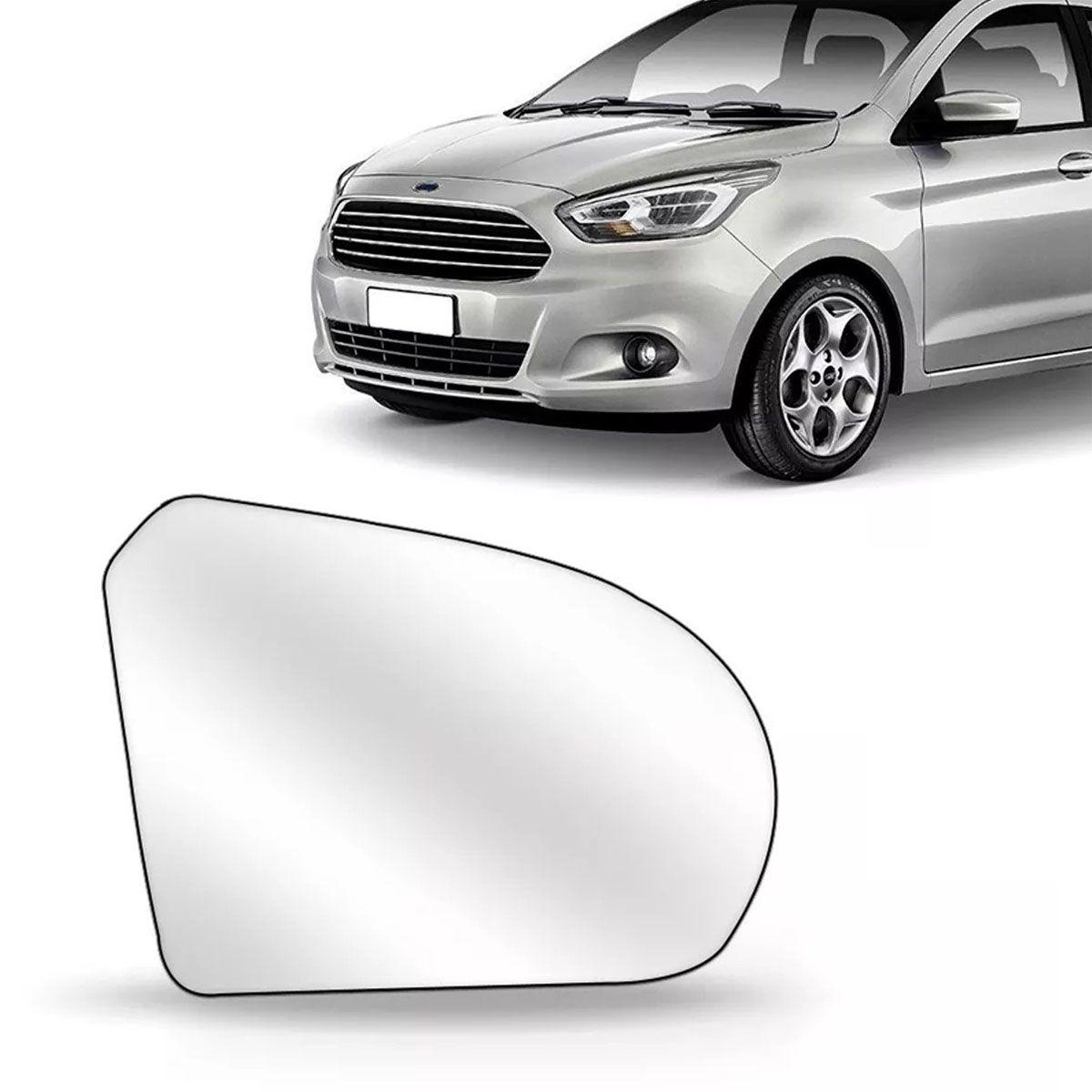 Lente Retrovisor Ford Ka 2014 Até 2018 Com Base Lado Esquerdo