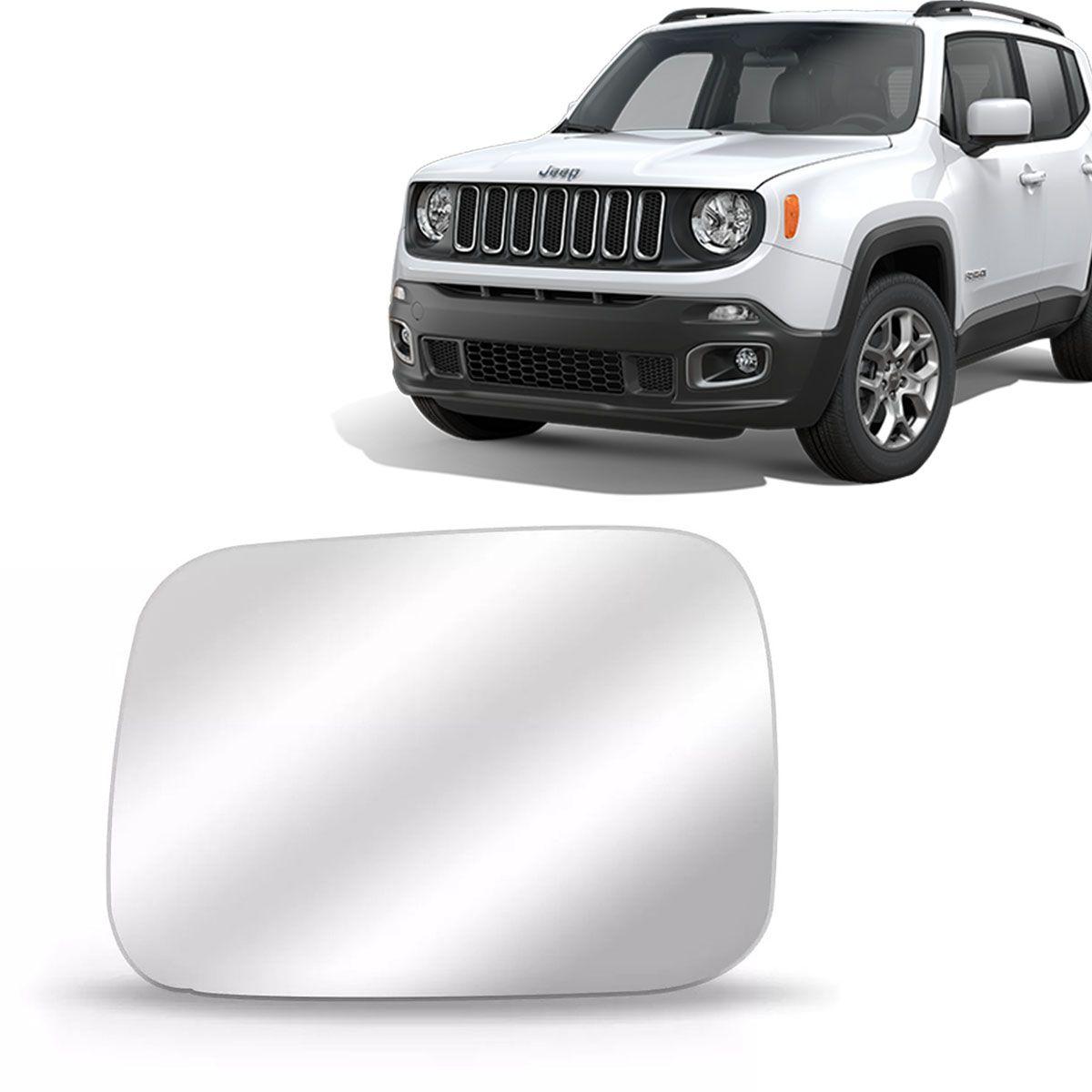 Lente Retrovisor Jeep Renegade 2015 Até 2019 Com Base Lado Esquerdo