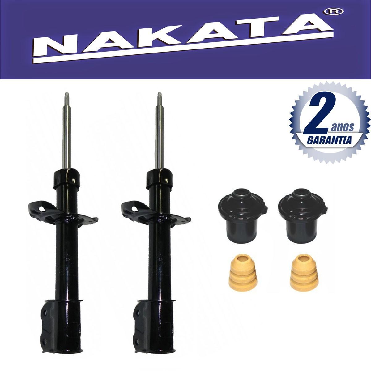 Par de Amortecedores Dianteiro Nakata Agile 2009 Até 2011 + Kit da Suspensão