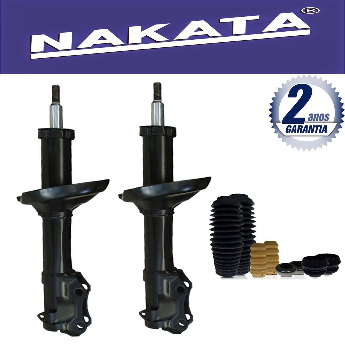 Par de Amortecedores Dianteiro Nakata Audi A3 1996 Até 2006 Golf 1998 Até 2010 Bora 2000 Até 2010 New Beetle 1998 Até 2005 + Kit da Suspensão