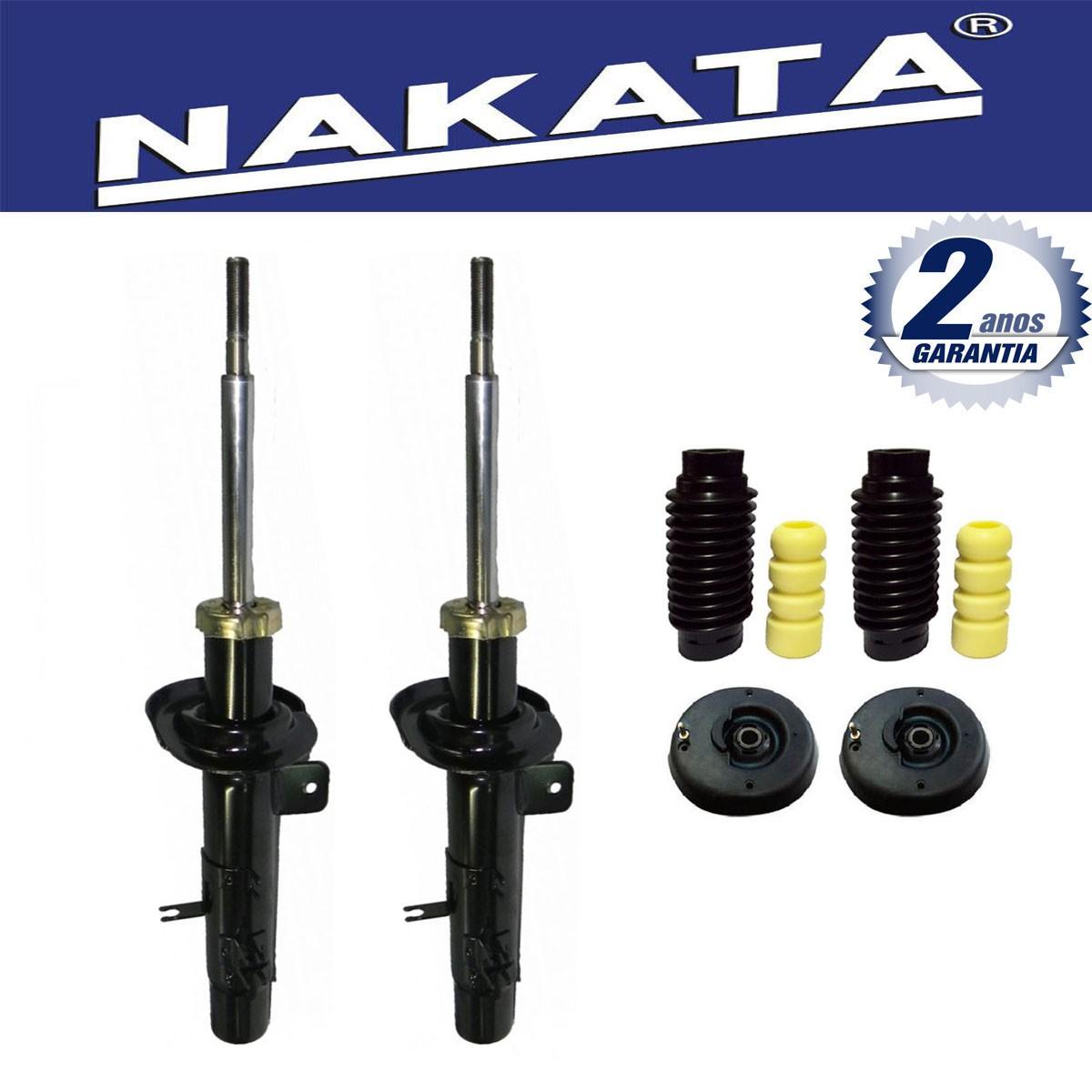 Par de Amortecedores Dianteiro Nakata Citroen C3 2003 Até 2012 + Kit da Suspensão