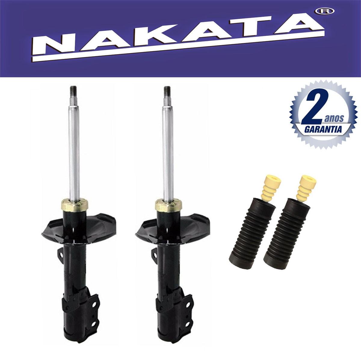 Par de Amortecedores Dianteiro Nakata Corolla e Fielder 2002 Até 2008 + Kit da Suspensão.