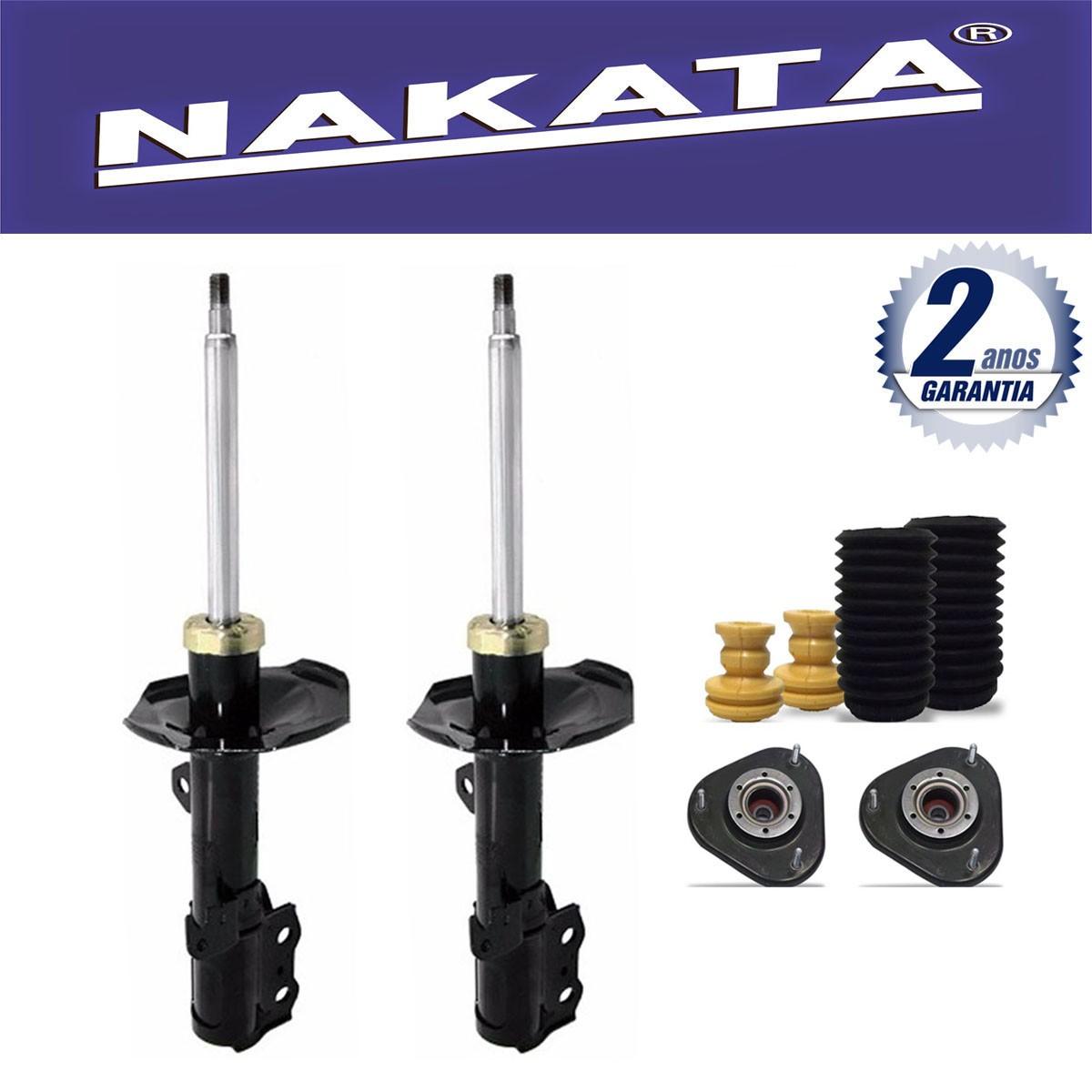 Par de Amortecedores Dianteiro Nakata Corolla e Fielder 2003 Até 2008 + Kit da Suspensão