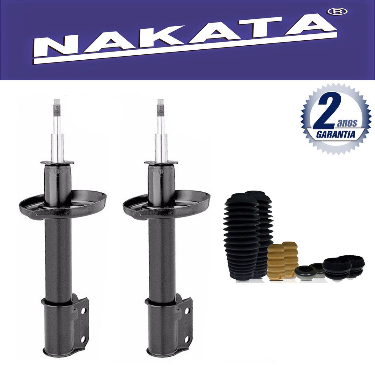 Par de Amortecedores Dianteiro Nakata Courier 1997 Até 2014 + Kit da Suspensão
