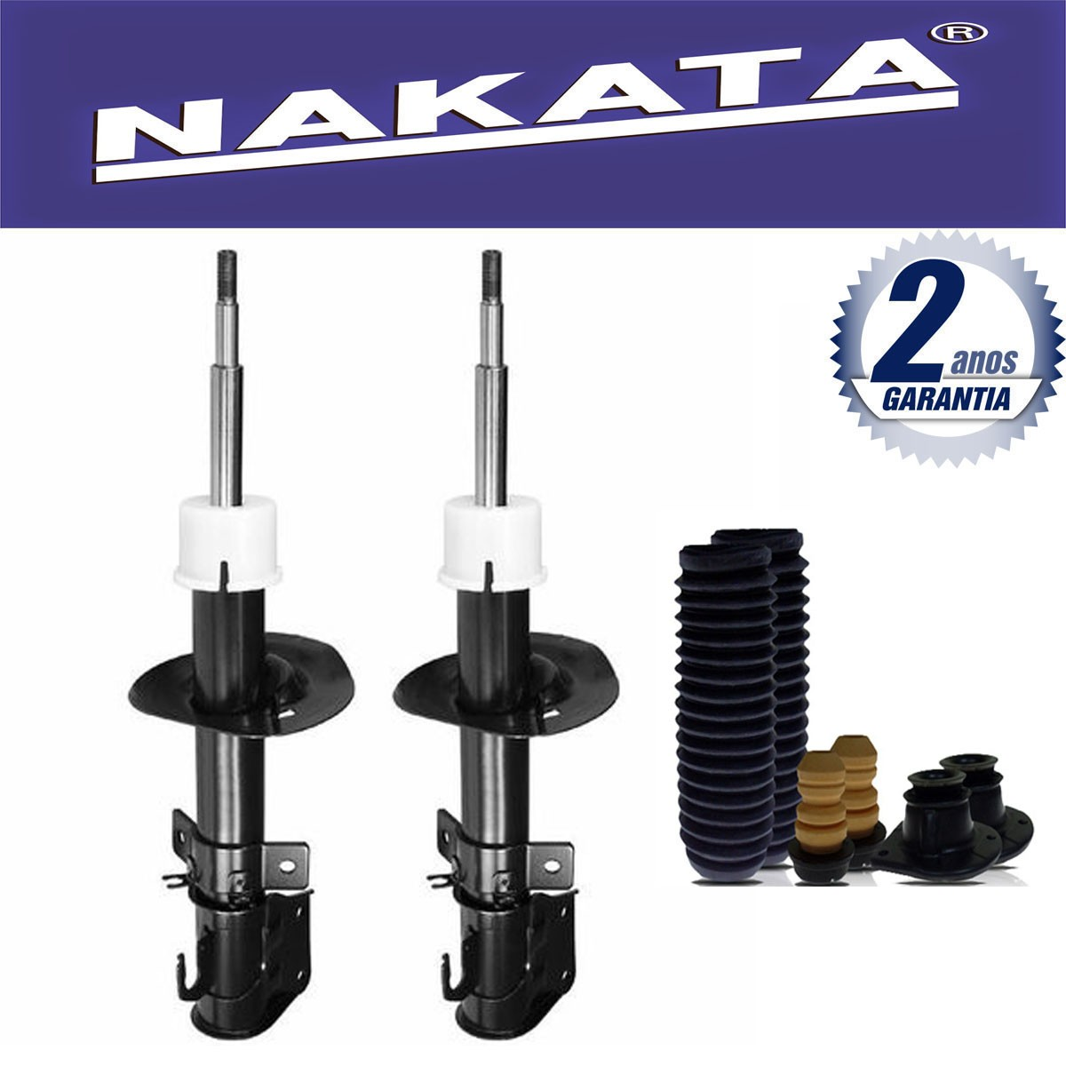 Par de Amortecedores Dianteiro Nakata Fiat Idea 2006 Até 2015 + Kit da Suspensão