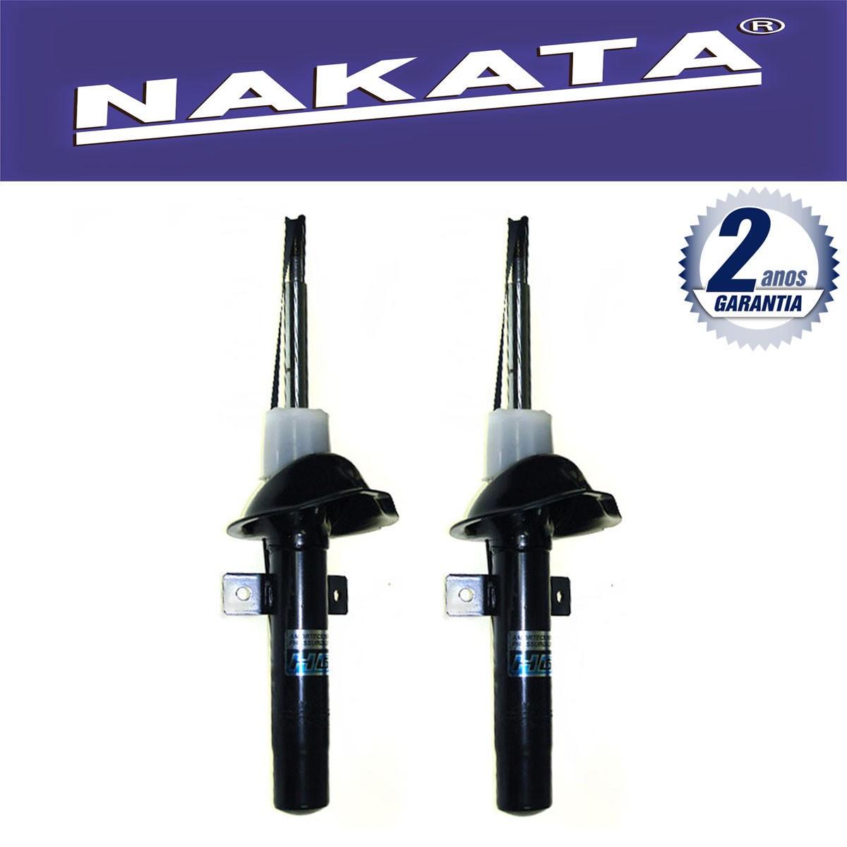 Par de Amortecedores Dianteiro Nakata Ford Fiesta Nacional 1996 Até 2002 Fiesta Street 2002 Até 2005