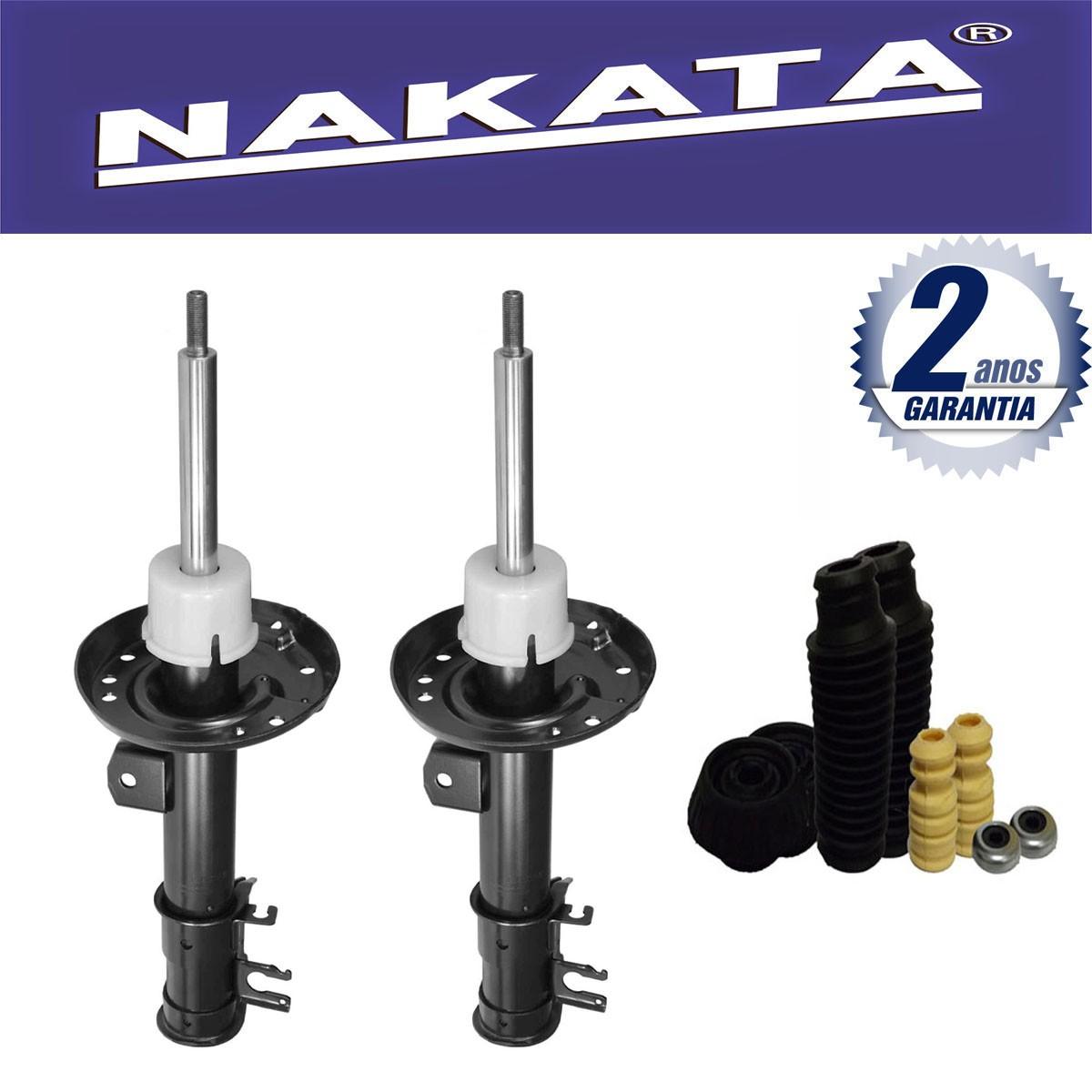 Par de Amortecedores Dianteiro Nakata Honda City 2009 Até 2013 + Kit da Suspensão