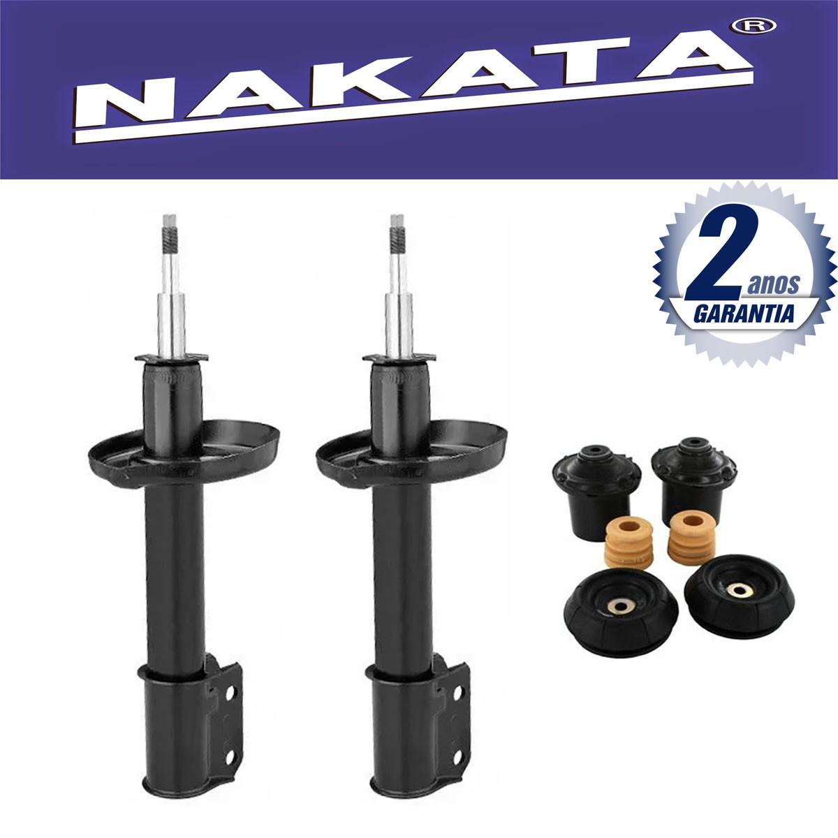 Par de Amortecedores Dianteiro Nakata Novo Corsa Hatch e Sedan 2002 Até 2013 + Kit da Suspensão.