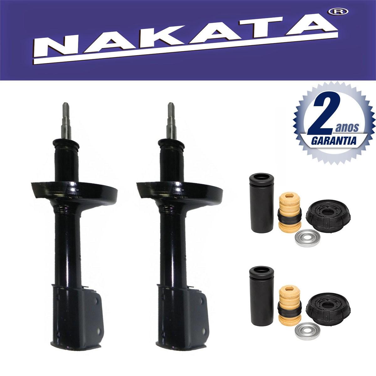 Par de Amortecedores Dianteiro Nakata Renault Kangoo 1999 Até 2008 + Kit da Suspensão
