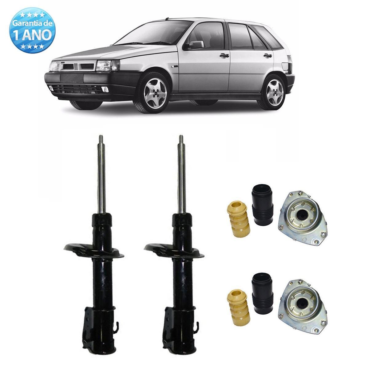 Par de Amortecedores Dianteiro Remanufaturados Fiat Tipo 1993 Até 1997 + Kit da Suspensão