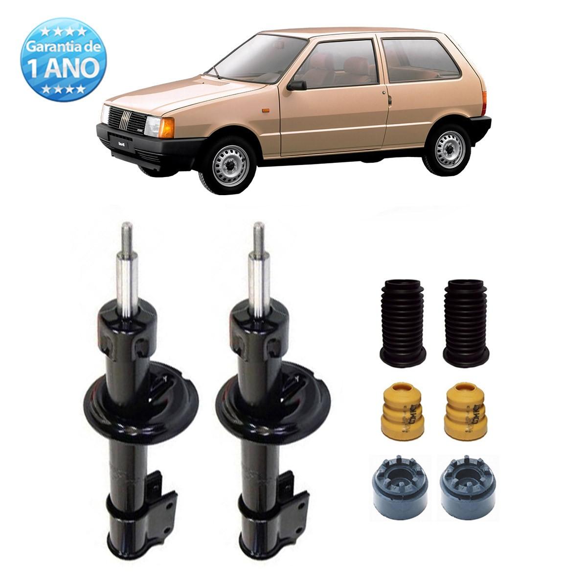 Par de Amortecedores Dianteiro Remanufaturados Fiat Uno S Cs Mille Fire 1989 Até 1992 + Kit da Suspensão