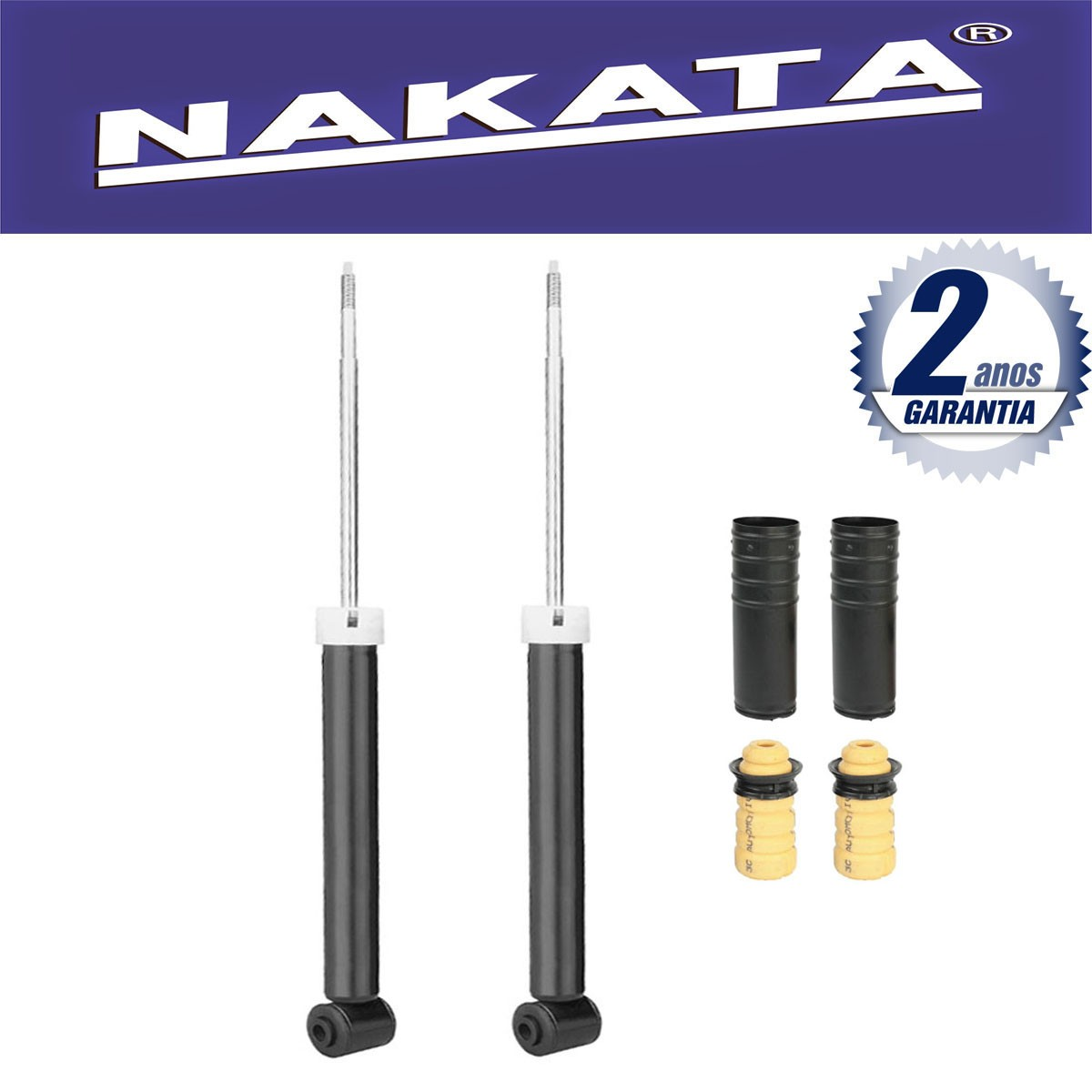 Par de Amortecedores Traseiro Nakata Cobalt 2012 Até 2015 + Kit da Suspensão