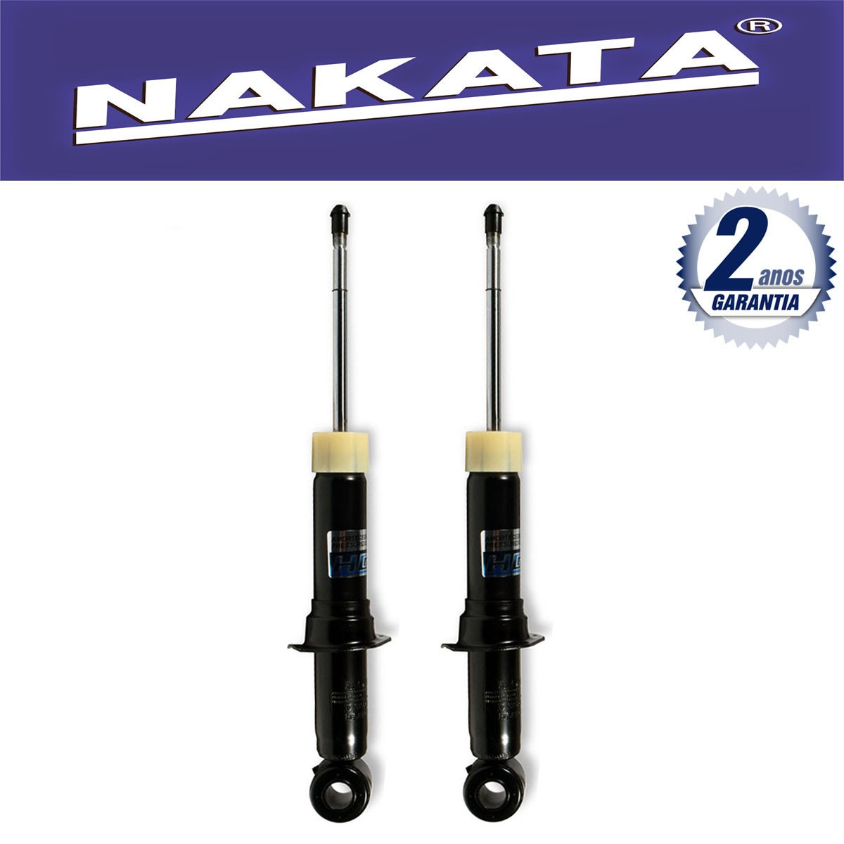 Par de Amortecedores Traseiro Nakata Corolla e Fielder 2002 Até 2008