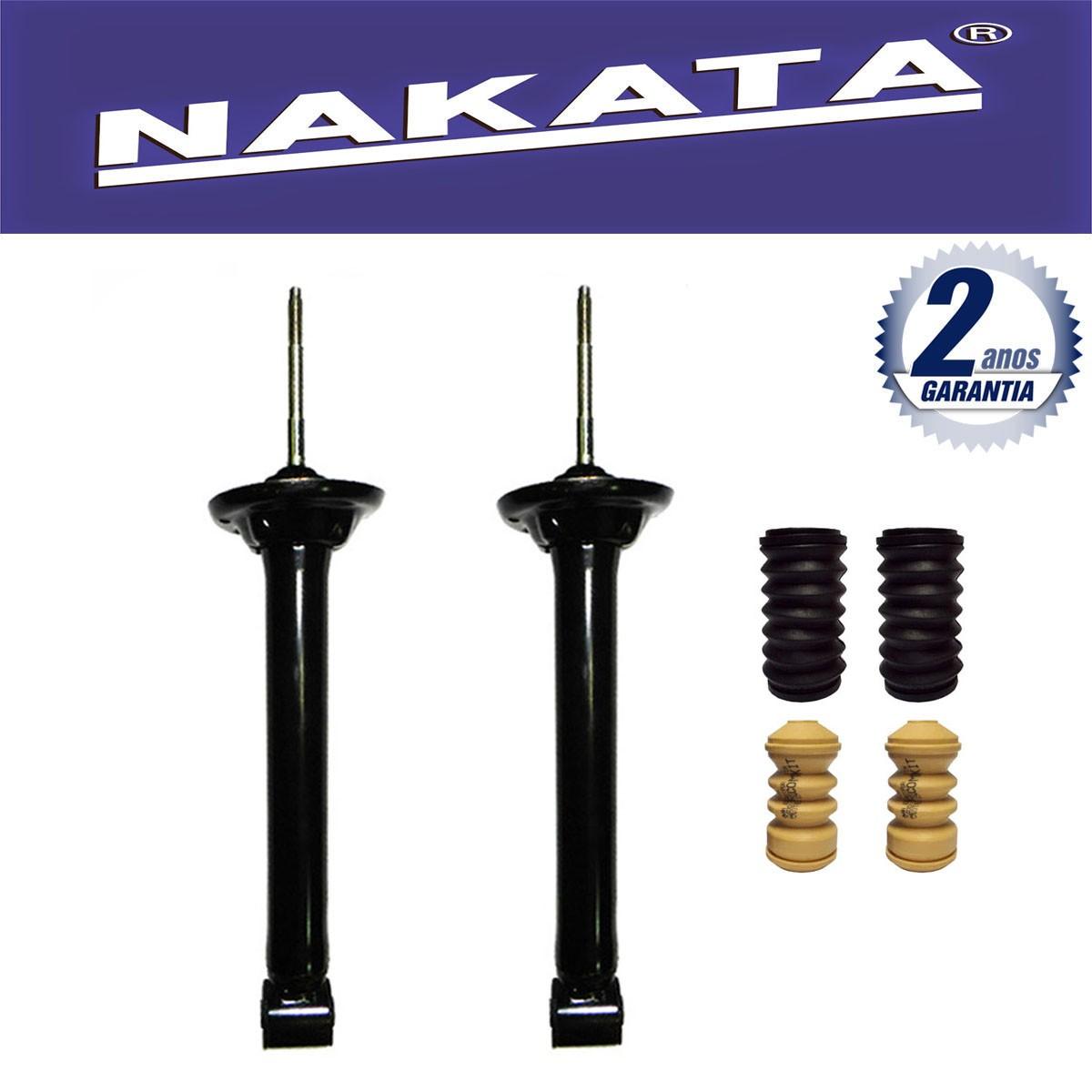 Par de Amortecedores Traseiro Nakata Gol e Voyage G5 2008 Até 2013 + Kit da Suspensão