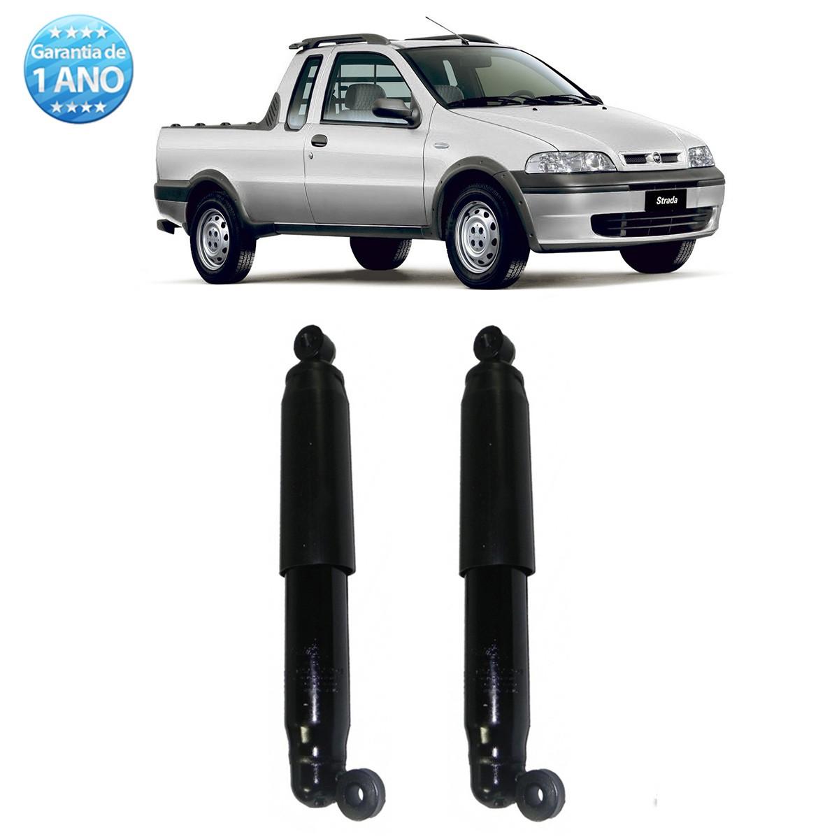 Par de Amortecedores Traseiro Remanufaturados Fiat Strada 1998 Até 2012