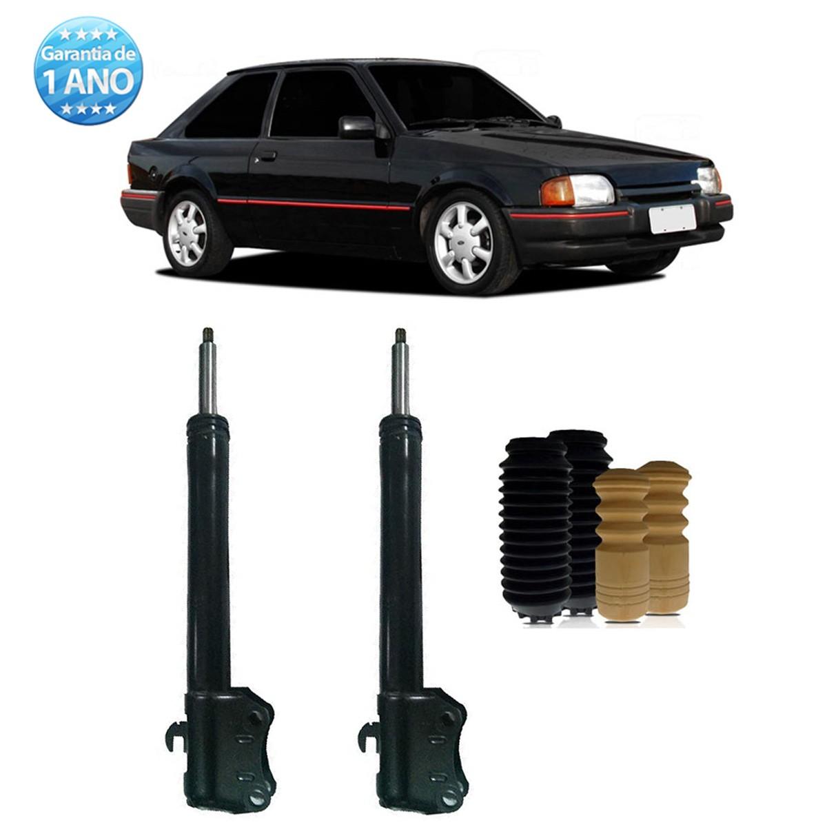 Par de Amortecedores Traseiro Remanufaturados Ford Escort 1991 Até 1993 Hobby 1992 Até 1996 + Kit da Suspensão