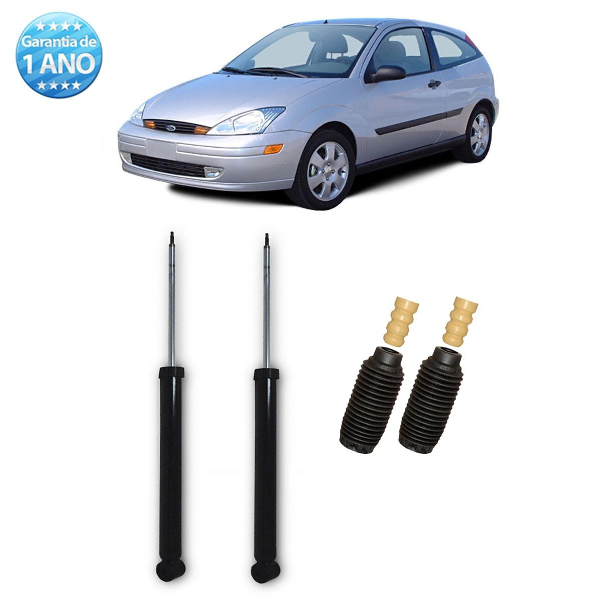 Par de Amortecedores Traseiro Remanufaturados Ford Focus 2000 Até 2008 + Kit da Suspensão