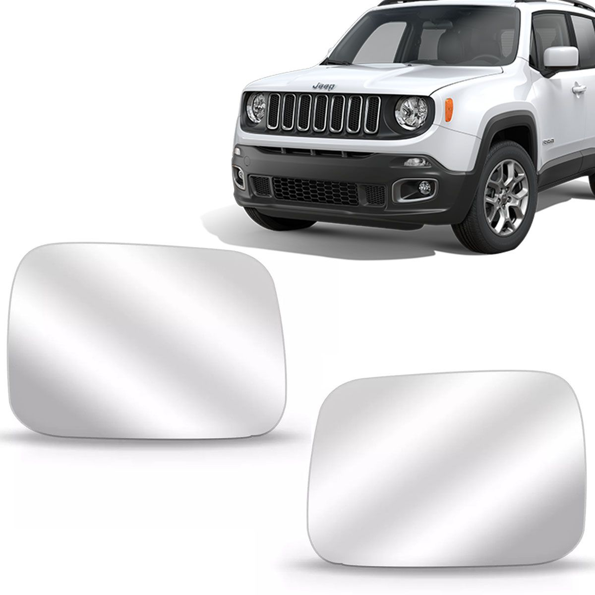 Par Lente Retrovisor Jeep Renegade 2015 Até 2019 Com Base