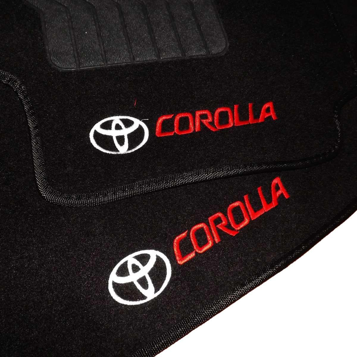 Tapete Carpete Personalizado Logo Bordada Corolla 2009 Até 2018