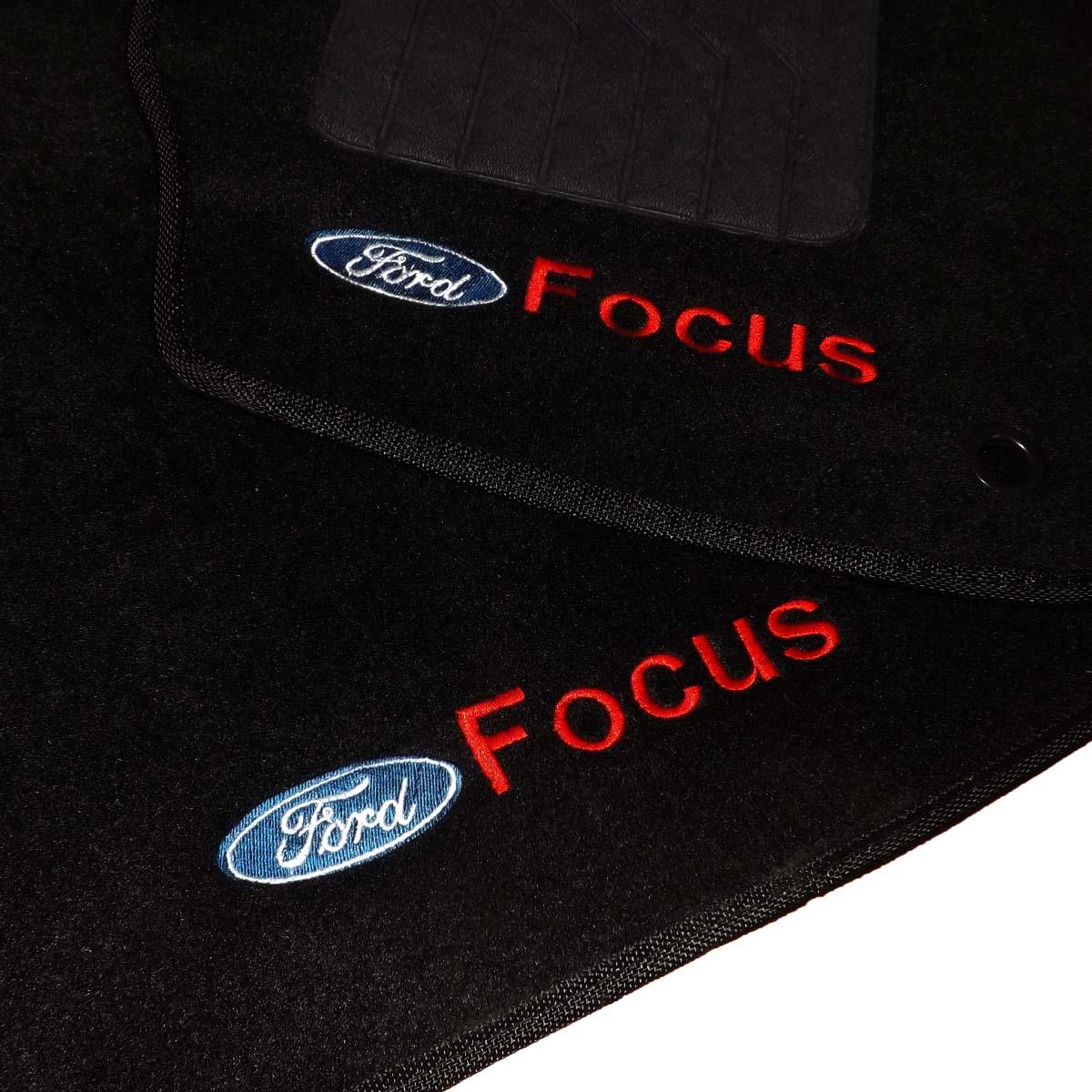 Tapete Carpete Personalizado Logo Bordada Focus Titanium 2015 Até 2019