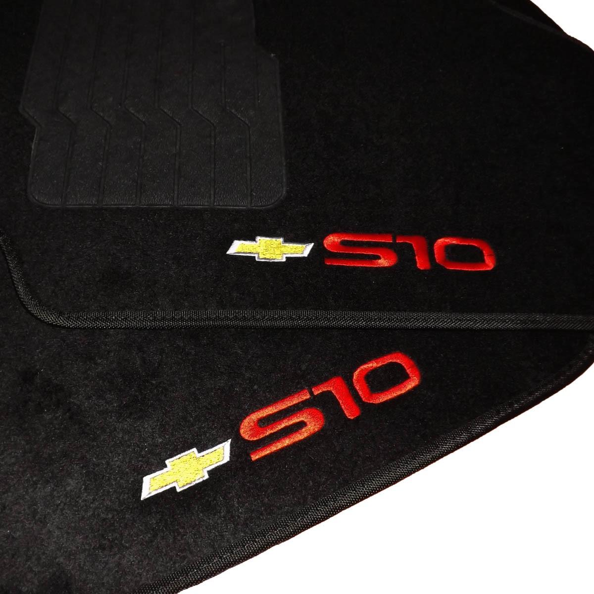Tapete Carpete Personalizado Logo Bordada S10 Cd 1996 Até 2012