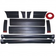 Kit Friso Lateral Gol Gts 87-90 Serve 80-95  Todo Preto