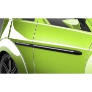 friso lateral universal preto  com filete cromado para carro 4  portas TG poli