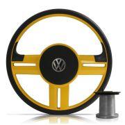 Volante Modelo Rallye Amarelo Volkswagen Chevrolet Fiat