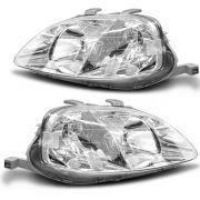 Farol Honda Civic 98 99 00 pisca cristal par
