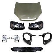 kit frente corsa + oculos do farol + alma+ milhas +farois mascara negra