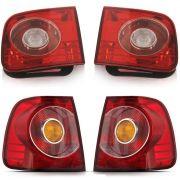 Kit Lanternas Mala + Canto Polo Sedan 07 08 09 10 11 12